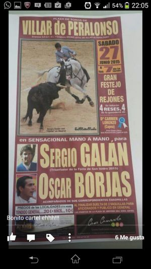 CORRIDA DE REJONES: Sergio Galán - Oscar Borjas