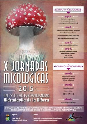 X JORNADAS MICOLÓGICAS DE ALDEADÁVILA DE LA RIBERA