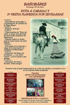 Ruta Ecuestre y 3ª Fiesta Flamenca por Sevillanas
